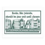 Libros y amigos tarjeta postal