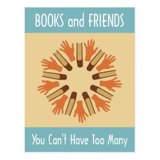Libros y amigos postal