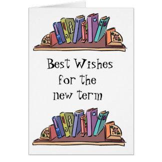 Libros y aprendizaje tarjeta