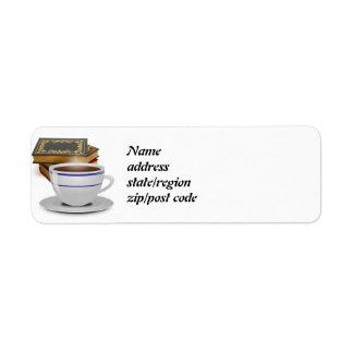 Libros y café: ¿Necesidad digo más? Etiquetas De Remite