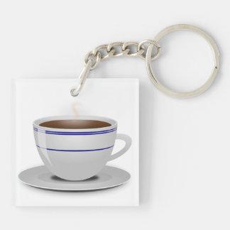 Libros y café: ¿Necesidad digo más? Llavero Cuadrado Acrílico A Doble Cara
