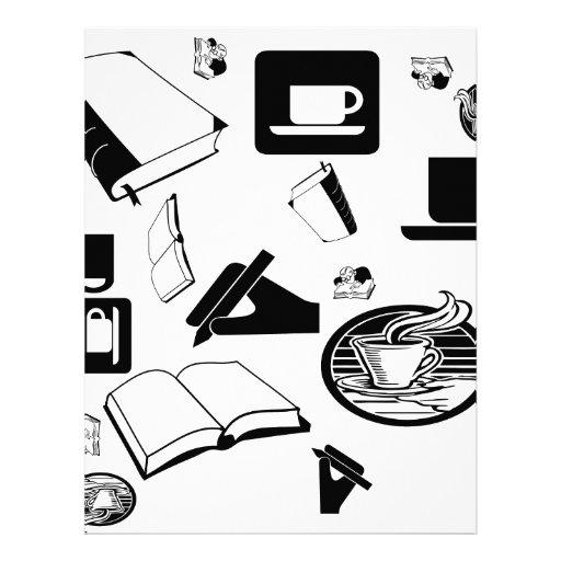 Libros y café: ¿Necesidad digo más? Membrete Personalizado
