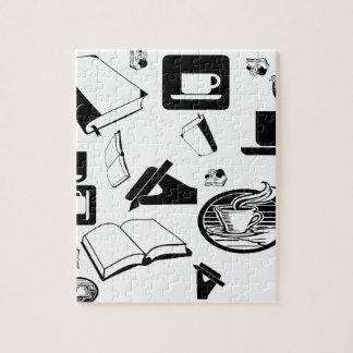 Libros y café: ¿Necesidad digo más? Puzzle Con Fotos