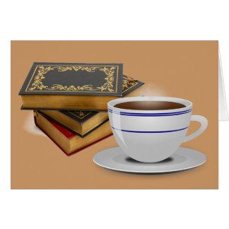 Libros y café: ¿Necesidad digo más? Tarjeta De Felicitación