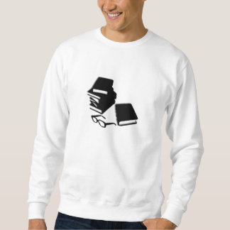Libros y camiseta de los vidrios jersey