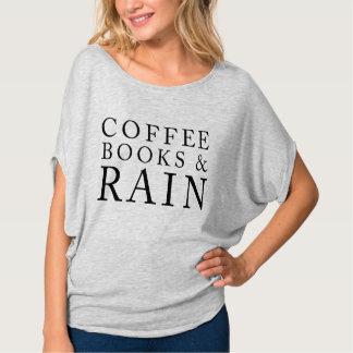 Libros y lluvia del café playera