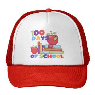 Libros y manzanas 100 días de camisetas de la escu gorra