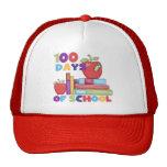 Libros y manzanas 100 días de camisetas de la escu gorros bordados