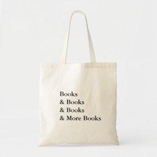 libros y más libros que leen al adicto bolsa tela barata