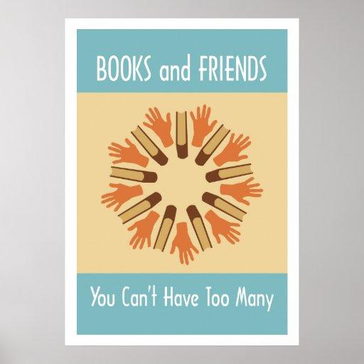 Libros y poster de los amigos