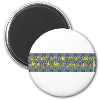 LibrulMediaWingCorps 2 Inch Round Magnet
