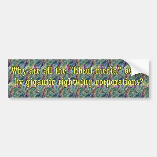 LibrulMediaWingCorps Bumper Sticker