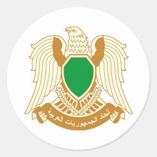 Libya - ليبيا classic round sticker