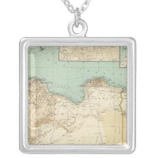 Libya 11314 square pendant necklace