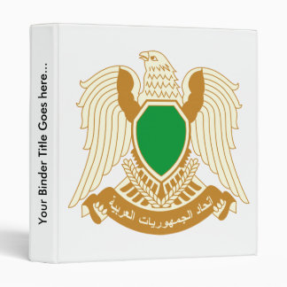 Libya Coat of Arms detail 3 Ring Binder