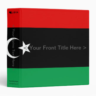 Libya Flag Binder