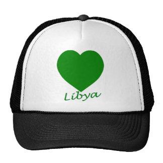 Libya Flag Heart Trucker Hat
