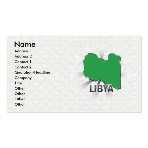 Libya Flag Map 2.0 Business Card