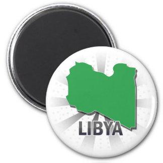 Libya Flag Map 2.0 Magnet