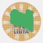 Libya Flag Map 2.0 Stickers