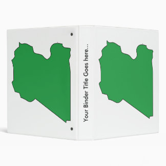 Libya Flag Map full size 3 Ring Binder
