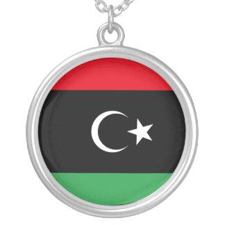 Libya Flag Round Pendant Necklace