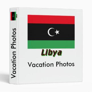 Libya Flag with Name 3 Ring Binder