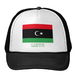 Libya Flag with Name Trucker Hat
