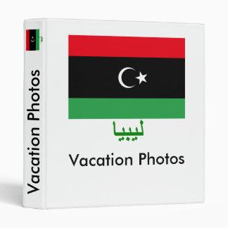 Libya Flag with Name in Arabic 3 Ring Binder