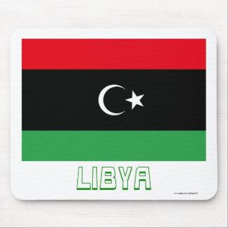Libya Flag with Name Mouse Pad