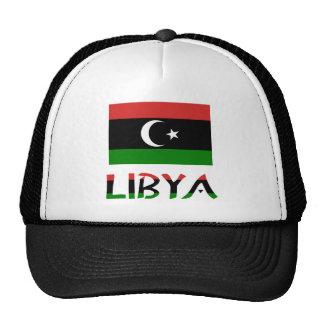 Libya Flag & Word Trucker Hat