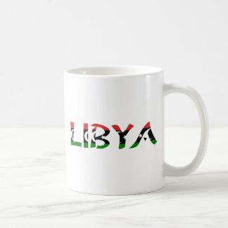 Libya FlagWord Classic White Coffee Mug