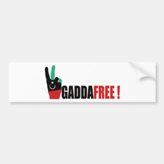 Libya free from Gaddafi - Kadhafi Bumper Sticker