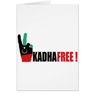 Libya free from Gaddafi - Kadhafi Card