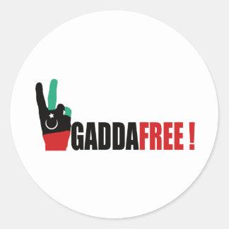 Libya free from Gaddafi - Kadhafi Classic Round Sticker