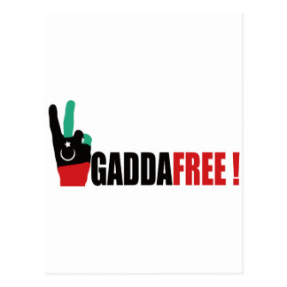 Libya free from Gaddafi - Kadhafi Postcard