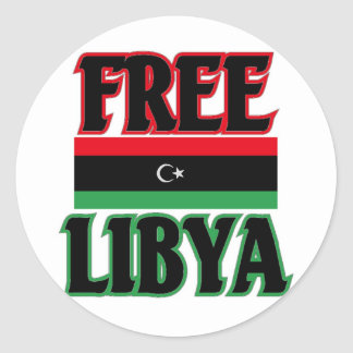 Libya - Free Libya  ليبيا الحرة Classic Round Sticker