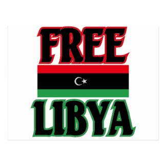 Libya - Free Libya  ليبيا الحرة Postcard