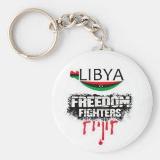 Libya: freedom fighters basic round button keychain