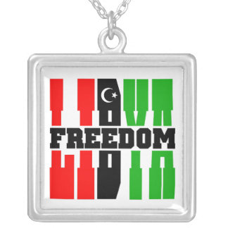 Libya Freedom Square Pendant Necklace
