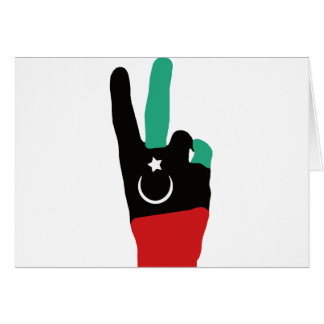 Libya Gaddafi - V of victory Card