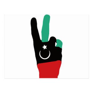 Libya Gaddafi - V of victory Postcard