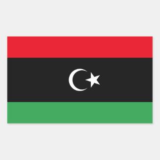 Libya/Libyan Flag Rectangular Sticker