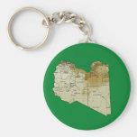 Libya Map Keychain