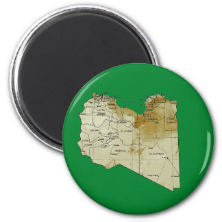 Libya Map Magnet