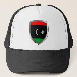 Libya Metallic Emblem Trucker Hat