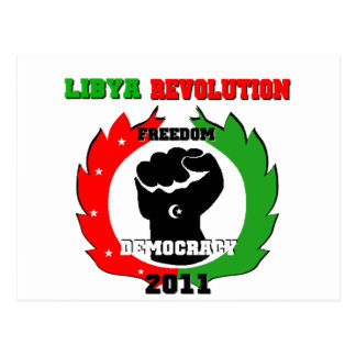 Libya Revolution Postcard