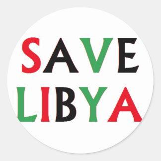 Libya - Save Libya Classic Round Sticker
