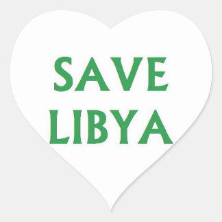 Libya - Save Libya Heart Sticker