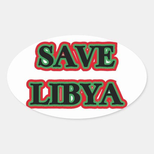 Libya - Save Libya Oval Sticker